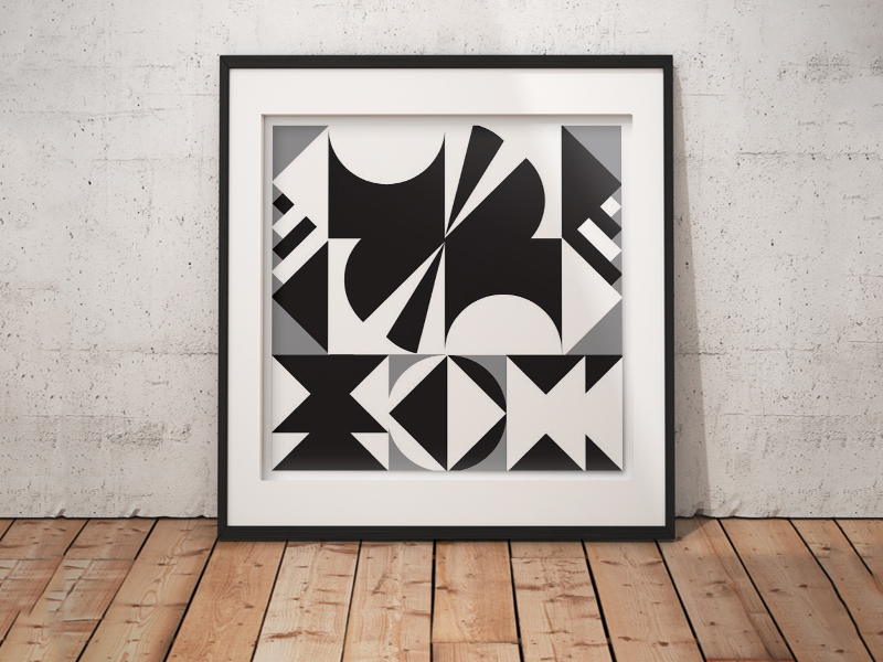 Geometric Forms – paper collage – Marcos Araujo